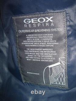 £190 GEOX Respira Mens Jacket M7428m Size 60 Camo Print Breathable System NEW