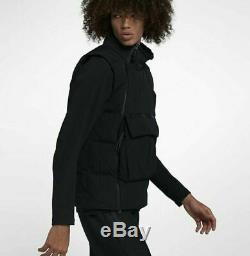 $200 Nike Sportswear Tech Pack Down-Fill Vest 928909-010 black mens 4XL