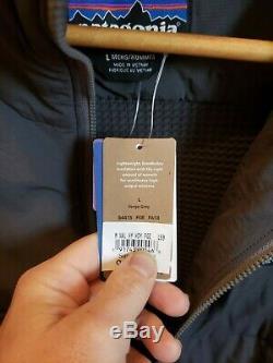 $249NWT Patagonia Mens Nano-Air Light Hybrid Hoody Jacket BRAND NEW Large L Grey