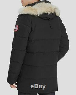 $2670 Canada Goose Men's Black Carson Down Hooded Parka Jacket Coat Size L