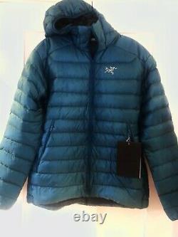 $379 NEW! ARCTERYX Men Cerium LT Hoody Jacket850 Goose Down Fill(S)ILIAD Blue