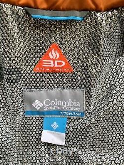 $650 Columbia Titanium OutDry Ex Diamond Piste Down Blue Jacket Men's Size Large