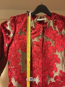 AUTHENTIC Alice + Olivia Queens Floor Length Coat Jacket US 0 2 / XS