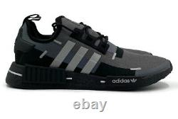 Adidas NMD r1 Technical Jacket Mens Running Shoe Beige Black Workout Sneaker NEW