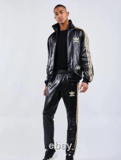 Adidas Originals Chile 62 Tracksuit Jacket Pants Set Leather Look Shiny Luxury