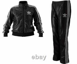 Adidas Originals Chile 62 Tracksuit Jacket Pants Set Leather Look Wet Luxury Top