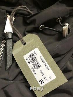All Saints Black Darley Hooded Zip Coat Jacket Overcoat Xs L XL New & Tags