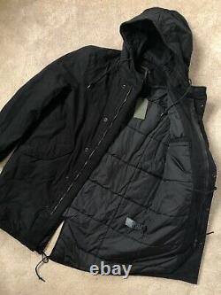 All Saints Men's Black Den Padded Parka Jacket Coat S M L New & Tags