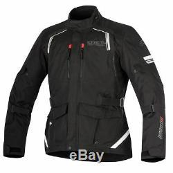 Alpinestars Andes V2 Drystar Waterproof Textile Touring Motorcycle Black Jacket