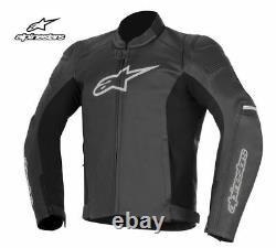 Alpinestars SP1 Black Leather Motorcycle Jacket SAVE MEGA SALE
