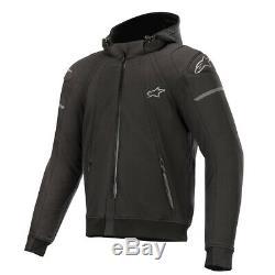 Alpinestars Sektor Tech Textile Hooded Jacket Black Motorcycle Jacket New
