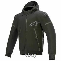 Alpinestars Sektor V2 Tech Hoodie Motorcycle Motorbike Textile Jacket Black