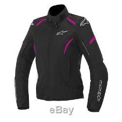 Alpinestars Stella ladies/women Textile Gunner MotorBike jacket Black/pink/fusia