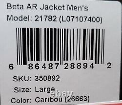 Arc'Teryx Men's Beta AR Pro Gore-Tex Jacket Caribou Large New