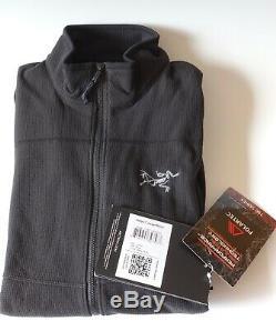 Arc'teryx Delta LT Jacket Men's Full Zip Polartec Size Small Black NEW