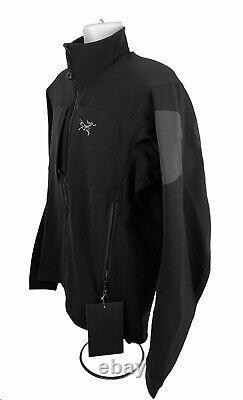 Arc'teryx Men's Gamma MX Blackbird Black Softshell Full Zip Jacket Sz M Arcteryx