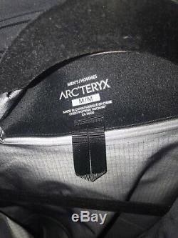 Arcteryx Mens Rush LT Jacket. Gore-Tex Pro. Medium Black Pilot Brand New NWT