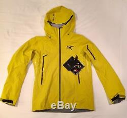Arcteryx Sabre Jacket Mens M Lichen Yellow Snowboard Ski Gore-Tex Recco
