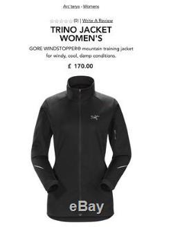 Arcteryx Trino Small Womens Jacket GoreTex Windstopper Running Fleece
