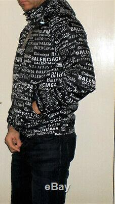 BALENCIAGA zipped hoodie rain jacket. Brand new with tags black S, M, L, XL