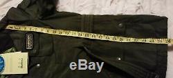 BARBOUR INTERNATIONAL Ladies Green Jacket Size 14/16 Waterproof & Breathable