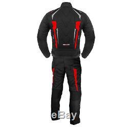 BIKER Waterproof Motorbike Motorcycle 2 piece Riding Suit Jacket Trouser Armours