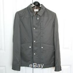 BRUNELLO CUCINELLI soft brushed gray green nylon water resistant jacket 50 NEW