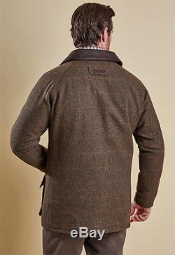 Barbour Tweed Gamefair Wool Leather Jacket coat Men's Waterproof XL