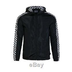 Beautiful Giant Men's Lightweight Windbreaker Jacket With Front Zipper Black
