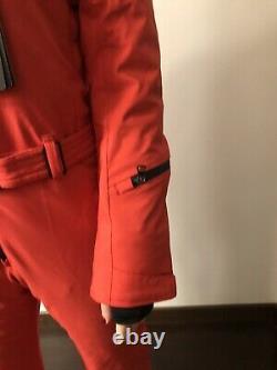 Bogner red womens ski snowboard jacket suit size XS -S, slim, fur trim