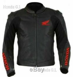Brand New Honda Motorbike Leather Jacket High Quality Black