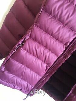 Brand New Womens Patagonia Hi-loft Sweater Down Hoody Jacket Burgundy