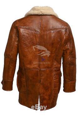 Brown Bane Coat Real Leather Jacket Batman Dark Knight Biker Bomber XS S M L XL