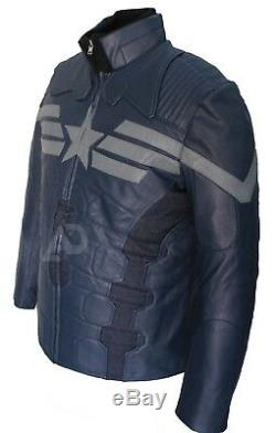 Chris Evans Captain America The Winter Soldier Leather Jacket