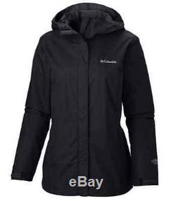 Columbia womens Arcadia waterproof breathable rain jacket coat Black XS S M L XL