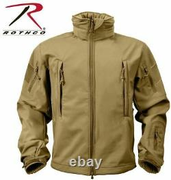 Coyote Brown Special OPS Tactical Waterproof Soft Shell Jacket Coat Rothco sz M