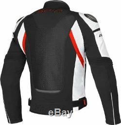 Dainese Super Speed Textile Vented Jacket Black White Motorcycle Jacket New