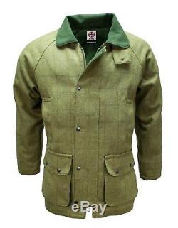 Derby Tweed Breathable Hunting Shooting Jacket Coat Waterproof Branded Mens Wool