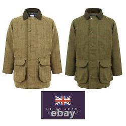 Derby Tweed Jacket Mens Waterproof Breathable Hunting Shooting Fishing Warm New
