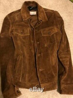 Deus Ex Machina Tan Suede Leather Jacket Size Large