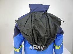 French Border Police Hi Vis Waterproof Lined Motorcycle Bike Jacket Coat D7/F1