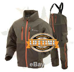 Frogg Toggs Pilot II Guide Fishing Rain Suit Stone & Taupe Jacket & Bibs M MD