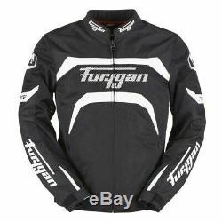Furygan Arrow Vented Summer Motorcycle Motorbike Mens Jacket Black White SALE