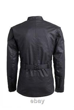 GENUINE Triumph Motorcycles Beck Waxed Cotton Custom Riding Jacket Black SALE