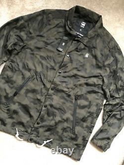 G-star Raw Asfalt / Black Hedrove Coach Camo Zip Jacket Coat XL New & Tags