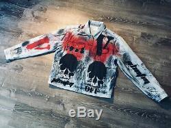 Gap Custom made Hand painted vlone kiss kid cudi misfits jean denim sz. L NEW