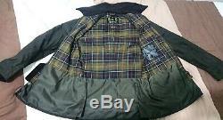 Genuine Barbour Ashby Wax Jacket Olive Medium Waterproof New Mens Womens RRP£199