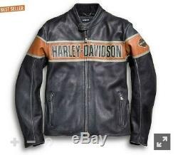 Harley Davidson Biker Victoria Lane Style Genuine Cow Leather Jacket