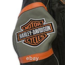 Harley Davidson Victory Lane Jacket Motorcycle Biker Real Buffalo Cracker WLC