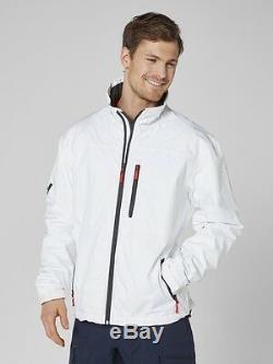 Helly Hansen Crew Midlayer Fleece Lined Waterproof Jacket 30253/001 White NEW